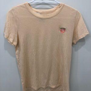 Aritzia light salmon peach shirt